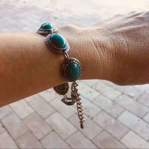 Jewelry - NEW in stock turquoise and alloy bracelet